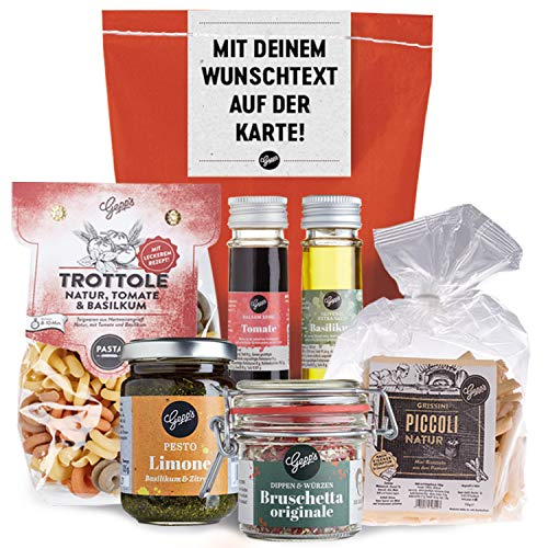 Persönliche Geschenkidee für Mutter & Vatertag I Mit italienischen Delikatessen wie in Italien...