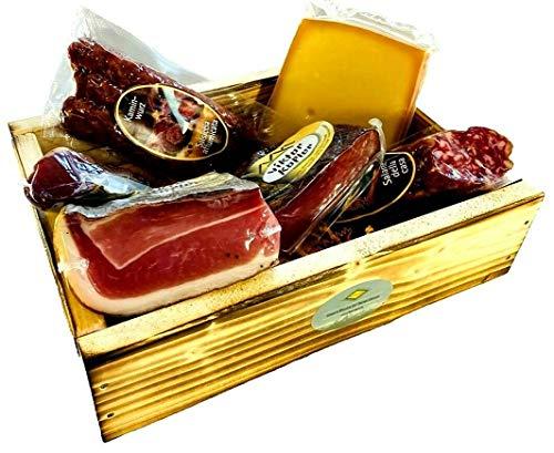 Geschenkekiste mit Südtiroler Spezialitäten die 6er 'Marende'