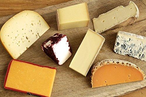 Käseplatte 'Probierpaket Überraschungsauswahl - PETITE' 6 - 8 Sorten Käse = 1000g - Grußkarte...