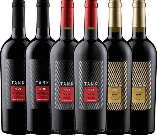 6er Kennenlernpaket - TANK Weine von Cantine Minini | italienischer Rotwein | Wein aus Sizilien | 6...