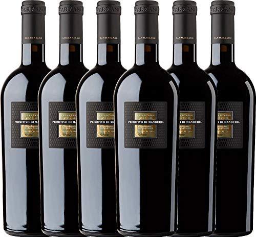 6er Weinpaket Italien - Sessantanni Primitivo di Manduria 2015 - Cantine San Marzano mit...