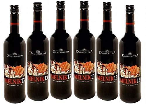 Paket von 6 Flaschen Rotwein Melnik 13, 0,75 l, Damianitza, Bulgarien