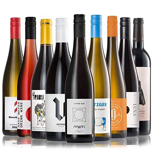 GEILE WEINE Weinpaket ALLSTARS (9 x 0,75l) | Trockener Weißwein, Rosé und Rotwein im Probierpaket...