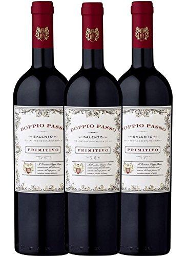 3er Paket - Doppio Passo Primitivo Salento IGT CVCB | halbtrockener Rotwein | italienischer Wein aus...