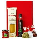 Geschenkset Neapel Italien Geschenkkorb mit Pasta, Olivenöl und italienischen Spezialitäten