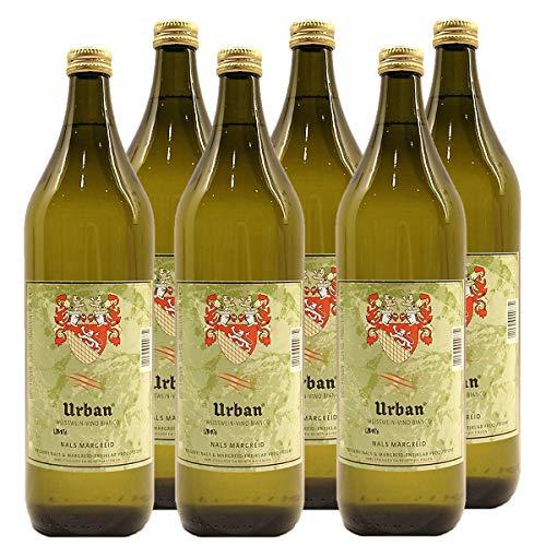 Südtiroler Urban Weißburgunder Weißwein Italien 2018 Literflasche trocken (6x 1 l)