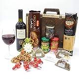 Geschenkset Italien 02   Italienischer Geschenkkorb gefüllt mit Delikatessen und Cabernet Sauvignon...