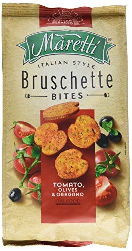 Maretti Bruschette Chips - Tomato, Olives & Oregano, Brotchips Tomate, Olive und Oregano -...