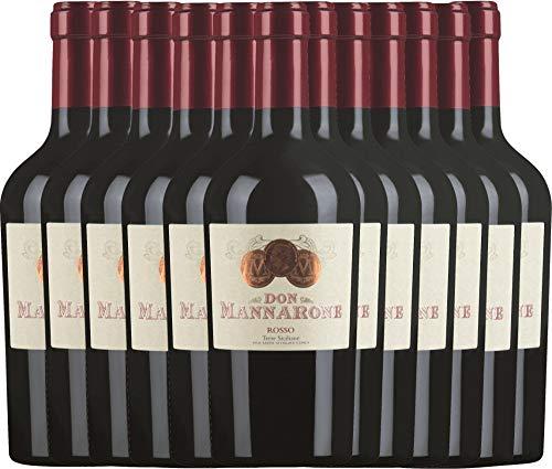 VINELLO 12er Weinpaket Rotwein - Don Mannarone Rosso Terre Siciliane 2019 - Mánnara mit...