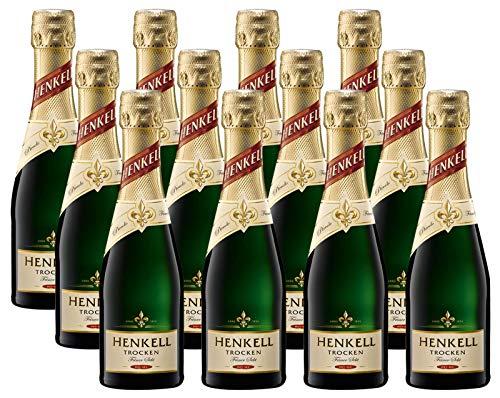 Henkell Feiner Sekt, Trocken, 11,50% Alkohol (12 x 0,2l Flaschen) – Chardonnay-Cuvée in...