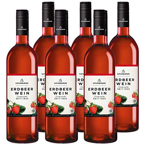 Katlenburger Fruchtwein Erdbeere 6x 0,75l, reiner Fruchtwein, Beerenwein, lieblicher Obstwein mit...