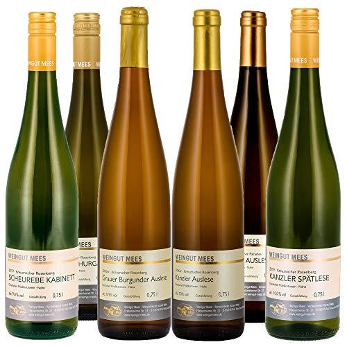 Weingut Mees PROBIERPAKET WEISSWEIN LIEBLICH EDELSÜSS SÜSS Weißwein Wein Deutschland Nahe Set (6...