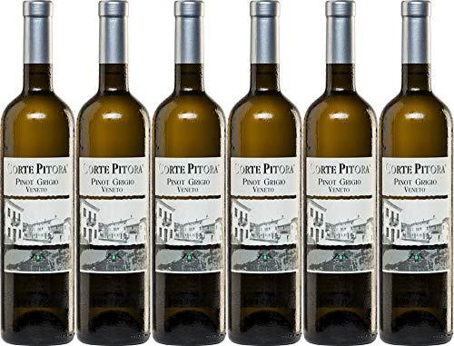 6x Corte Pitora Pinot Grigio 2019 - Weingut Casa Vinicola Bennati, Veneto - Weißwein