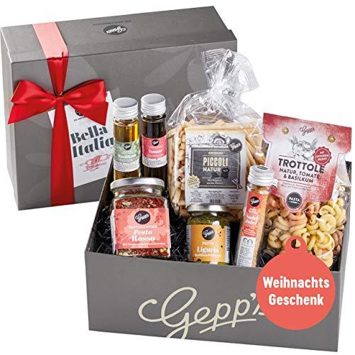 Gepp's Feinkost Bella Italia Geschenkbox zu Weihnachten I Italienische Delikatessen, hergestellt...