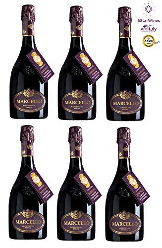 Lambrusco IGP Marcello Rotwein [ 6 Flaschen x 750ml ]