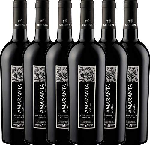 VINELLO 6er Weinpaket Rotwein - AMARANTA Montepulciano d'Abruzzo DOC 2018 - Tenuta Ulisse mit...