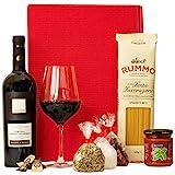Geschenkset Rom Italien Geschenkkorb mit Wein und italienischen Spezialitäten
