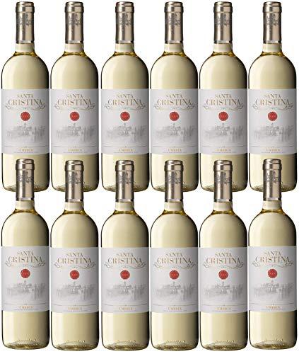 Weißwein aus Umbrien - 12 x 0,750 l. - Santa Cristina Bianco Umbria IGT - Weingut Marchesi Antinori