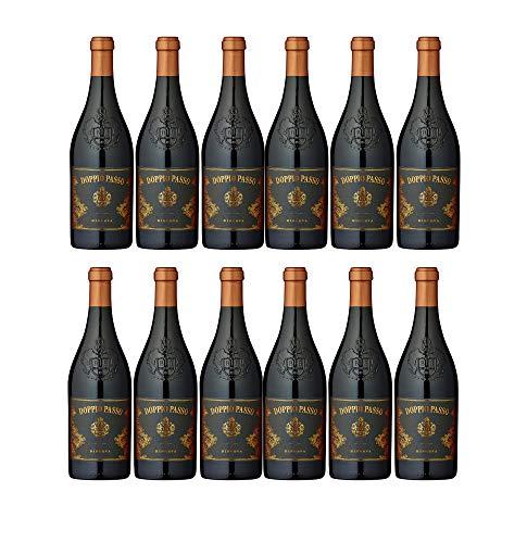 Doppio Passo Brindisi Riserva Rotwein veganer Wein trocken DOC Italien (12 Flaschen)