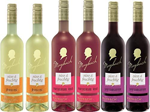 Weinpaket Maybach Süß & Fruchtig (6x0,75L) 2x Spätburgunder Rotwein, 2x Portugieser Rosewein, 2x...