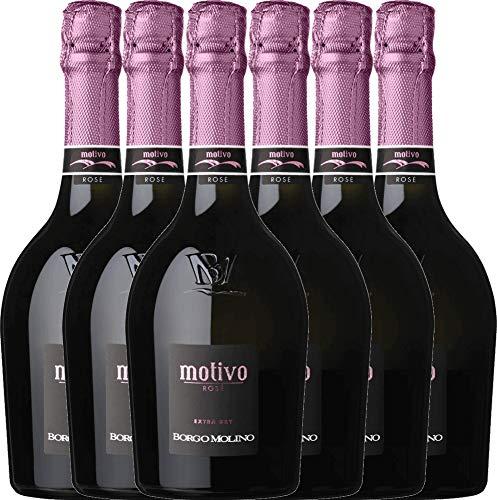 6er Weinpaket Italien - Motivo Rosé extra dry - Borgo Molino mit VINELLO.weinausgießer |...