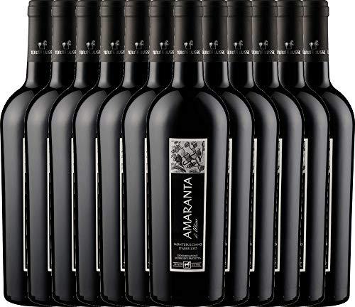 VINELLO 12er Weinpaket Rotwein - AMARANTA Montepulciano d'Abruzzo DOC 2018 - Tenuta Ulisse mit...