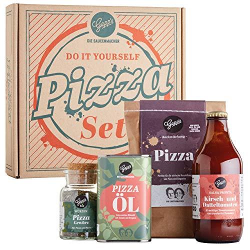 Gepp's Feinkost DIY Pizza Geschenkset I Knusprige und leckere Pizza zum Selbermachen I Pizzateig...