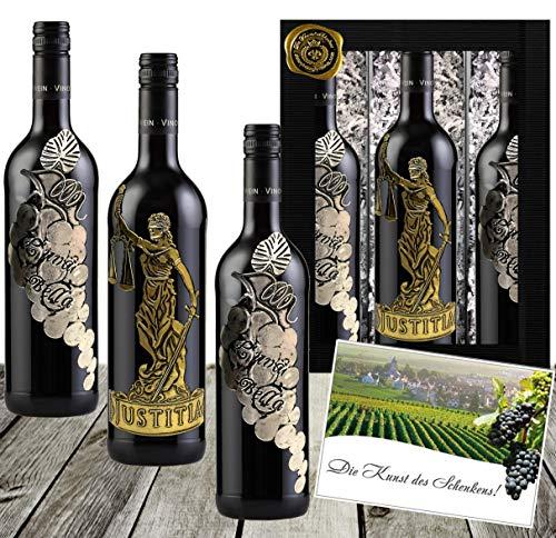 Götter & Reben Weingeschenk Italien Cabernet Sauvignon & Cuvée aus Primitivo, Sangiovese & Merlot...