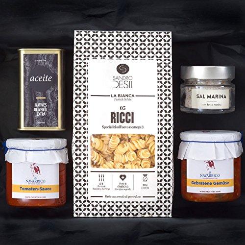 Geschenk-Set PASTA ITALIA | Gefüllter Präsentkorb mit italienischen Nudeln, mediterraner Feinkost,...